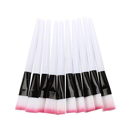 SODIAL(R) 10pcs Pink brosse White Bar de Masque Facial Soins de la Peau Outils de Maquillage