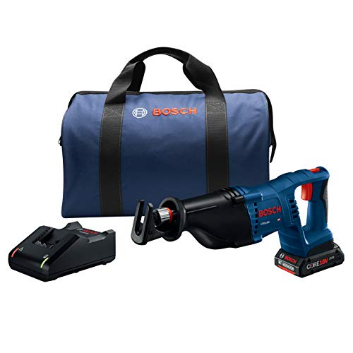 Power Tools Reciprocating Saw Kit -  18V D-Handle Saw w/ (1) 4.0 Ah CORE Battery - Bosch CRS180-B15