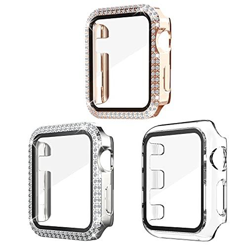 Kdely [3 Pack] Funda para Apple Watch Series 3/2/1 42mm Carcasa Brillante...