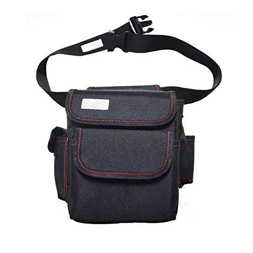 Nvshiyk Multi Pocket Tool Organizer Electrician Multifunctional Tool Storage Bag Hardware Tool Repair Bag for Electricians (Color : Black B, Size : 21x10x25cm)
