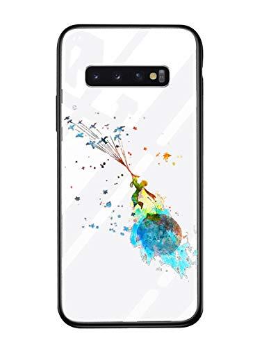 Alsoar Case ersatz für Samsung S10 Hülle Transparent Silikon Handyhülle Durchsichtig Antikratz Schutzhülle,Gehärtetem Glas Rückseite mit Soft Rahmen Tier Süß Shell für Galaxy S10 (Kleiner Prinz)