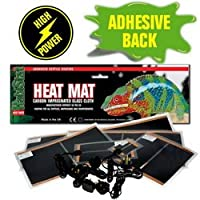 Super burst of Extra Heat for where it is needed Meet all recommended safety standards Must not be covered due to high heat Adhesive - easy to mount to side or roof of tank