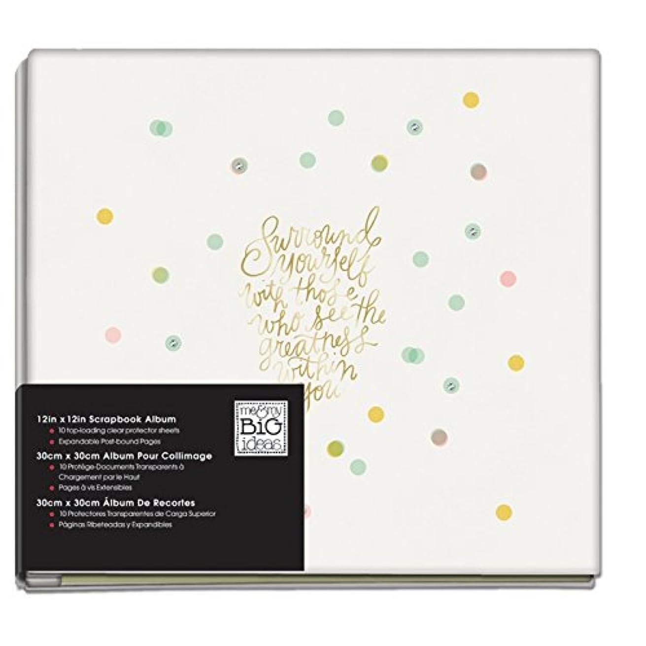 me & my BIG ideas Greatness Confetti Album, 12-Inch by 12-Inch