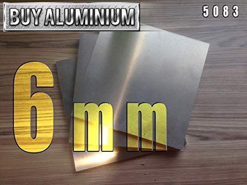 Aluminiumplatte, 6 mm, 5083, 100mm x 100mm, 1