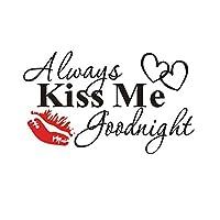 パーソナライズされた装飾的なウォールステッカーは常に私にキスします寝室のリビングルームの装飾取り外し可能なステッカー