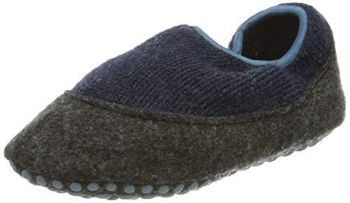 FALKE Unisex Kinder Cosy Slipper Stoppersocken, blau (darkblue 6681), 31-32
