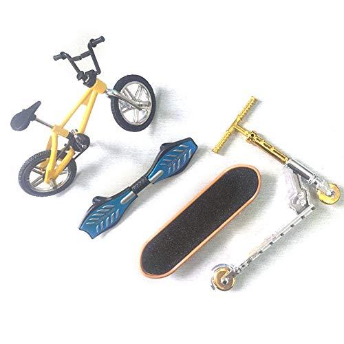 hangzhoushiJacob Elsie Juego de 4 mini dedo para monopatín, monopatín, bicicleta, scooter, para niños, juguetes de fiesta (juego 1)