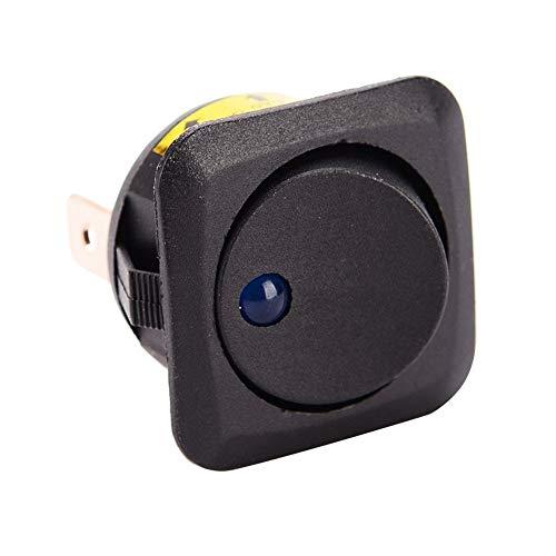 Ymhan 25mm 12V 25A LED basculante de conmutación 3 Pines en-Apagado el Interruptor de Palanca basculante Punto Redondo Azul LED Coche de la luz del Tablero de Instrumentos Barco Accesorios del Coche