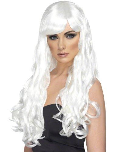 Perruque longue ondulée blanche femme - taille - Taille Unique - 210993