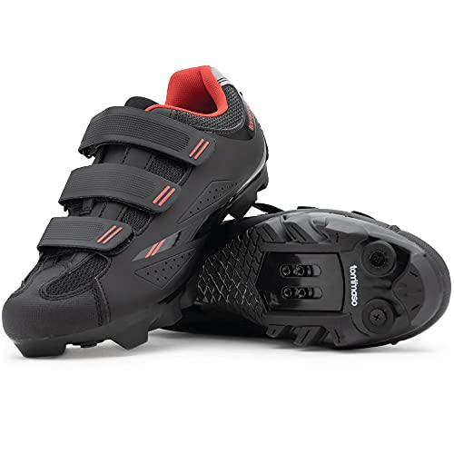 Tommaso Terra 100 Women's Mountain Biking, Spin, Indoor Cycling, Road Cycling SPD Compatible Shoe - Black/Red - 39