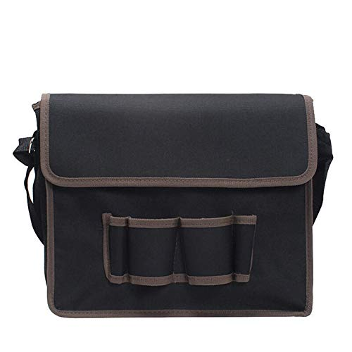 Bolsa de herramientas de almacenamiento bolsa de hombro con correa ajustable bolsa de hardware para electricistas y técnicos