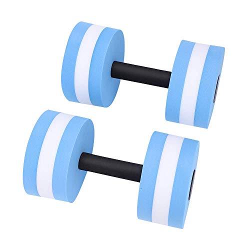 Pesa de gimnasia, 1 par de pesas de gimnasia con mancuernas de yoga con flotador de agua para entrenamiento