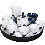 Tea Sets For Afternoon Tea With Teapot, Drinkware Chinese Teaware Set Exquisite Ceramic Teapot Kettles Tea Cup Porcelain Kung Fu Tea Set For Household