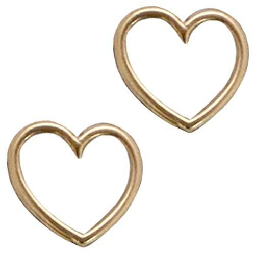 Sadingo sieradenconnector hart, hanger hart voor armbanden, macramé hanger - DIY sieraden - 2 stuks - 15x16 mm