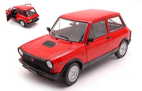 Autobianchi A112 MK5 Abarth 1980 Red 1:18 – Sólido – Coche de carretera – Die Cast – Modelismo