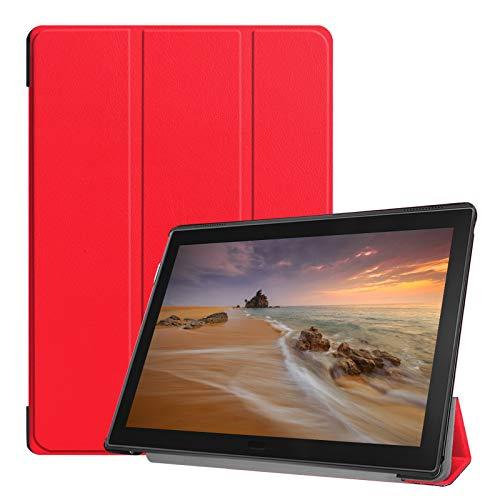 Lobwerk Schutzhülle für Lenovo Tab E10 TB-X104F 10.1 Zoll Slim Hülle Etui mit Standfunktion & Auto Sleep/Wake Funktion Rot