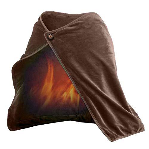 WDY sjaal USB verwarmde | verwarmingssjaal | verwarming brown | elektrisch verwarmde schouderdeken | verwarmingsschaal voor autokantoor bank stoel stoel reizen | Ultra zachter | 45 * 80cm