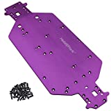 Hobbypark 04001 Metal Aluminum Chassis Plate for RC Electric 1/10 Redcat Volcano EPX Exceed Infinitive Rally Monster Truck Off Road Buggy Upgrade Parts (Purple)