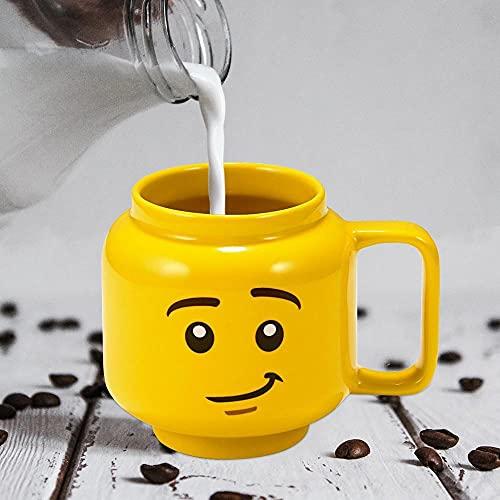 mglxzxxzc Taza De Cerámica Amarilla De Dibujos Animados Café Leche Desayuno Taza De Té Sonrisa Expresión Cerámica Niños Taza Linda para Beber Taza De Regalo para Niños-250Ml-04