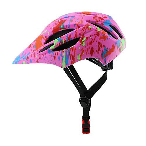 ZHXH Mountain Casco della Bici della Strada del LED Bambini Staccabili Casco Bicicletta Piena Faccia,11