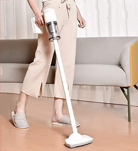 LSWY Limpiador de aspiradora de palos inalámbricos 2 en 1 aspiradora de palo de mano, 62dB de bajo ruido, hasta 30 minutos de tiempo de trabajo, vacío liviano en seco en seco para el cabello de mascot