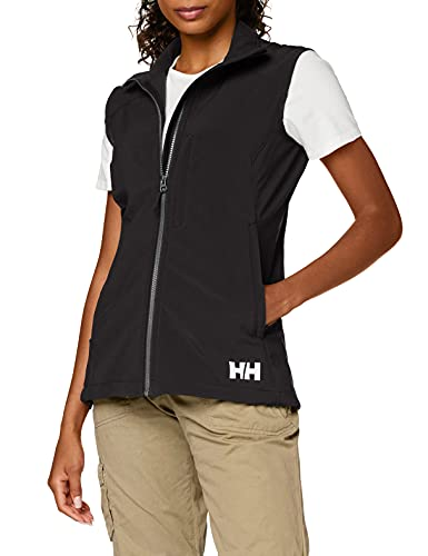Helly Hansen W Paramount Softshell Vest Chaleco, Mujer, Negro, S
