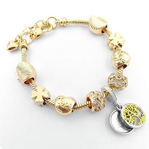 Hundetasche armbanden voor dames diy dames liefde hart vol diamanten goud kralen armband kristal kralen slang bot ketting