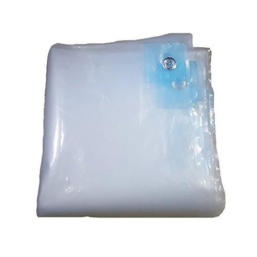 RFJJAL Kunststoff-Tuch transparent dick Regen Tuch wasserdichter Tuch Balkonmarkise Plane Garten Balkonpflanze Schatten Tuch (18 Arten von Größen verfügbar) (Color : Clear, Size : 5 * 15m)