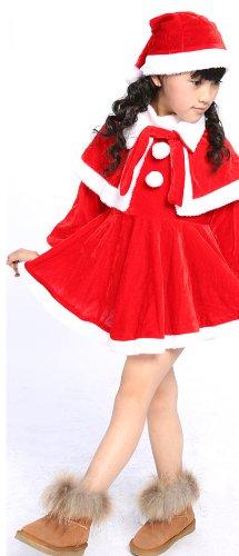 (Taglia L 100 ~ 120 cm) per bambini di Santa costume bambino costume della Santa di Natale del costume costume di Babbo Natale per i bambini / Santa costume cosplay costume per bambini, travestimento (japan import)