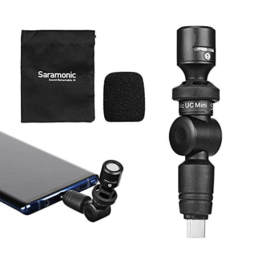 USB-C-microfoon, Saramonic SmartMic UC mini-condensator Flexibele microfoon Plug & Play-microfoon Compatibel met iPad…