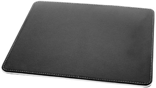 SIGEL SA105 Mauspad Eyestyle aus hochwertigem Leder-Imitat, schwarz / weiß