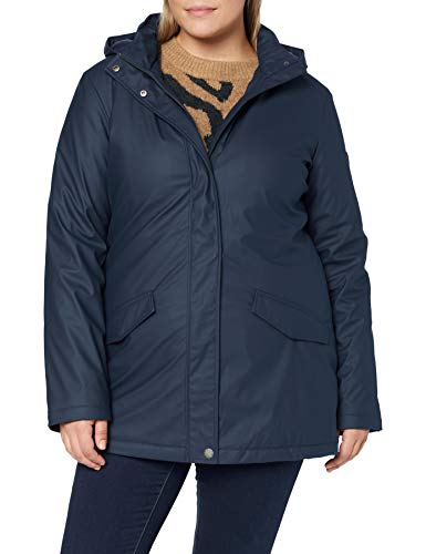 Roxy Downtown Calling - Gabardina Impermeable Y Con Capucha Para Mujer Gabardina Impermeable Y Con Capucha, Mujer, mood indigo, M