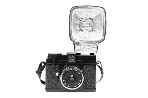 Lomography Diana Mini Petite Noir Zone Focus Camera, 35mm Film w/ 597
