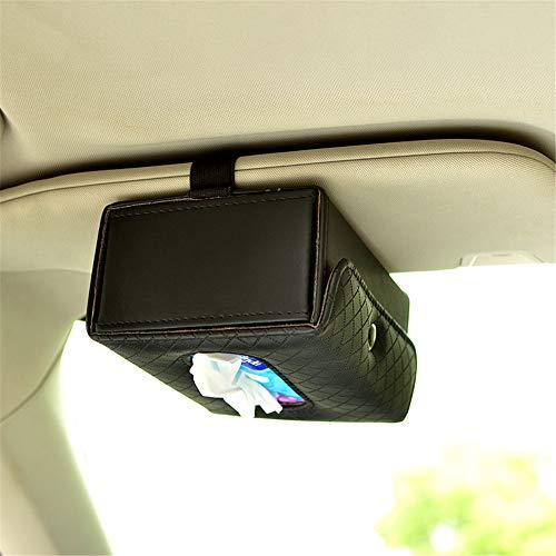 Zonneklep weefsel doos auto weefsel doos, auto weefsel doos, lade, stoel type armleuning doos, zonneblok, opknoping typeAuto Tissue BoxCar Zon Visor Tissue Clip Box Zwart
