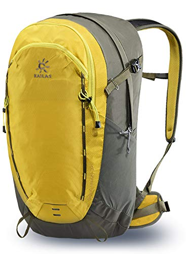 KAILAS Wind Tunnel Camping Backpack, 30L Hiking Daypack Lightweight Internal Frame for Camping Trekking Outdoors Yellow