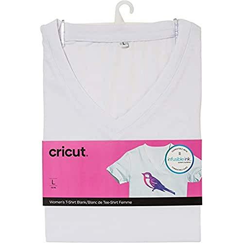 Cricut T-Shirt Personnalisable pour Femme, col en V