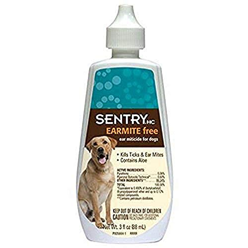 SENTRY HC EARMITEfree Ear Miticide for Dogs, 3 oz
