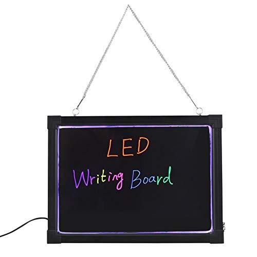 Placa de escritura con mensaje LED, efecto neón borrable, con 8 colores, intermitente, iluminado con mando a distancia para fiesta, boda, bar, cantina, 40 x 60 cm