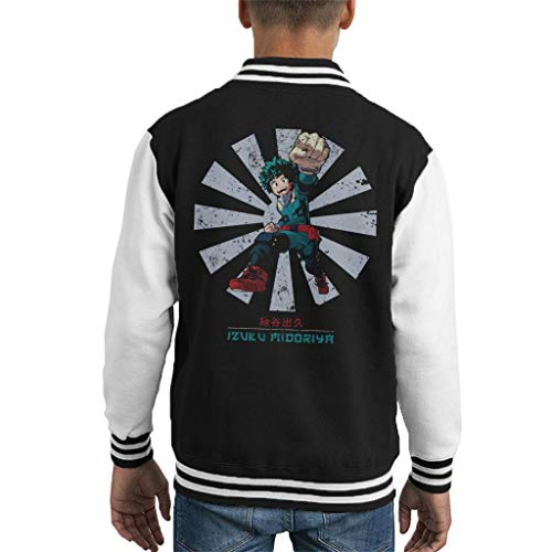 Cloud City 7 My Hero Academia Izuku Midoriya Retro Japanese Kid's Varsity Jacket