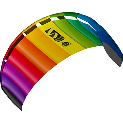 HQ 11768250 - Symphony Beach III 1.8 Rainbow, Zweileiner Lenkmatten, ab 12 Jahren, 60x180cm, inkl. 70 kp Blendlineschnüre 2x25m auf Winder mit Schlaufen, 2-6 Beaufort