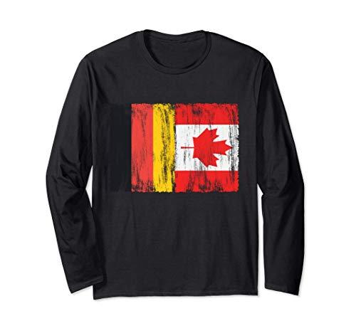 Deutschland und Kanada deutsch kanadisch Fahne Flaggen Langarmshirt