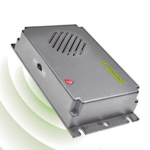 ISOTRONIC Deterrente per topi | Repellente portatile per roditori a ultrasuoni | Dissuasore alimentato a batteria | Protezione contro topi e ratti | Senza sostanze chimiche e veleno (1)