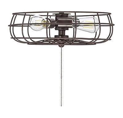 "Savoy House FLG-104-13 Ratcliffe 3-Light Industrial Fan Light Kit in English Bronze (15"" W x 5"" H)"
