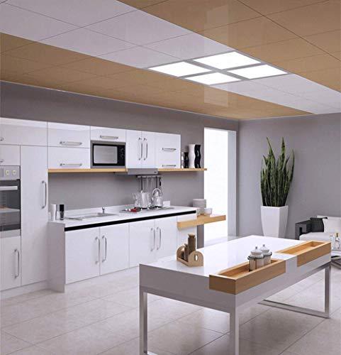 LED Deckenleuchte Panel, LED Lampe 6000K, Wohnzimmerlampe, Deckenlampe, Deckenstrahler, 12W, 840lm, quadratisch, weiß, 30x30 cm