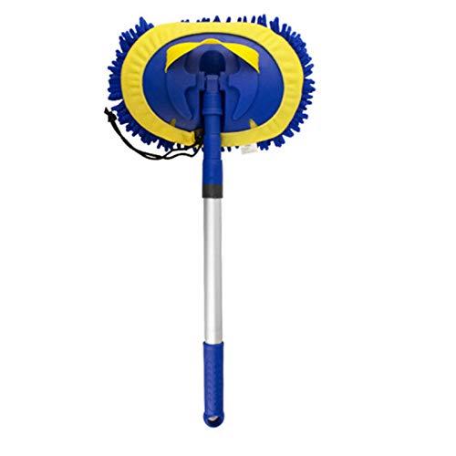 Plumero De Mano Microfibra 3 en 1 Lavado de Autos MOP 180 Rotación Desmontable Desmontable Polvo de Polvo Adecuado para Limpiar Coches (Color : Azul, Size : 16.5x25cm)