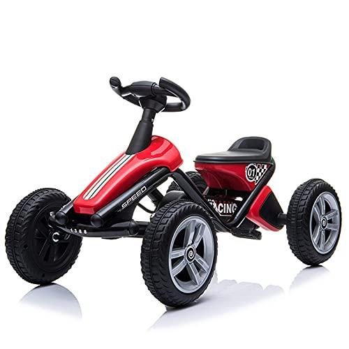 LINQ Bicicleta para niños: Kart de Cuatro Ruedas, Sistema de transmisión de Bicicletas, súper Agarre, Deportes y Cochecito de Juguete de Fitness con Volante simulado