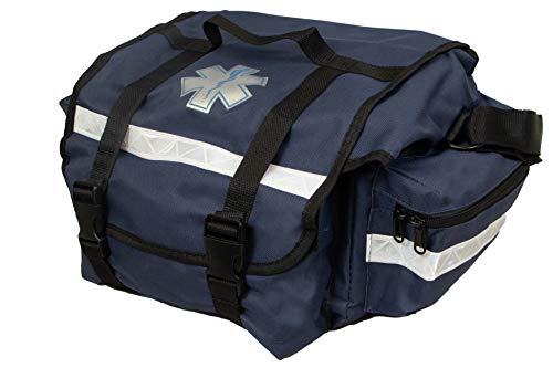 Primacare KB-RO74-B First Responder Bag for Trauma, Professional Multiple Compartment Kit Carrier for Emergency Medical Supplies, Blue, 16 x 12.7 x 3.3 inches