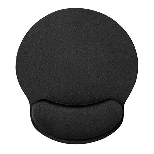 HONESTY Smooth Microfiber Memory Foam Mouse Wrist Pad, Ergonomic Resting Mouse Pad and Wrist Support, Comfortable Typing and Pain Relief, Suitable for Computer Games Office and Study, Black (1 Pack)