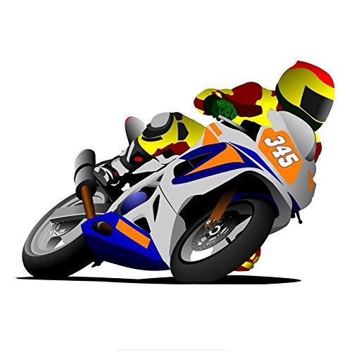 Aliauto Motorradfahrer Motorradaufkleber Lustiger PVC bunter Aufkleber Motorradaufkleber 12 * 17cm