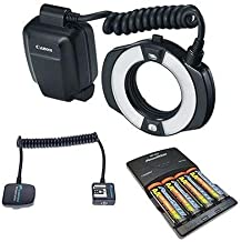 Canon MR-14EX II Macro Ring Lite Flash Bundle. USA. Value Kit with Acc #9389B002